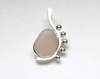 Sea Glass Jewelry - Sterling Rare Pink Sea Glass Pendant
