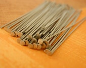 50 Flat Head Pins Stainless Steel - 21 or 24 gauge - You Pick Length  -  Straight and Consistent - 100% Guarantee