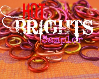 100 HOT Brights Colored Jump Ring Sample Package - You Choose Gauge and Diameter - Best Quality Hand Crafted - 100% Guarantee!