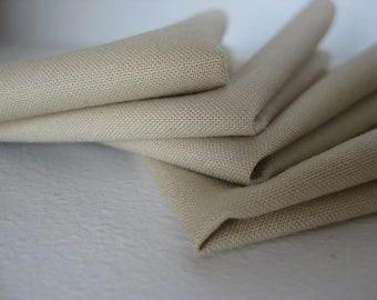 Cloth Napkins - Taupe - 100% Cotton