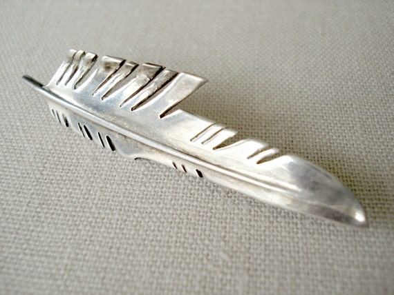 Vintage Indian Feather Pendant and Pin