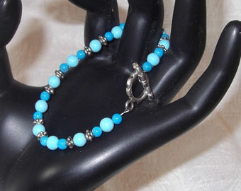 Two Tone Turquoise Bracelet   Clearance