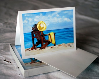 Blank Note Cards - Vacation Time