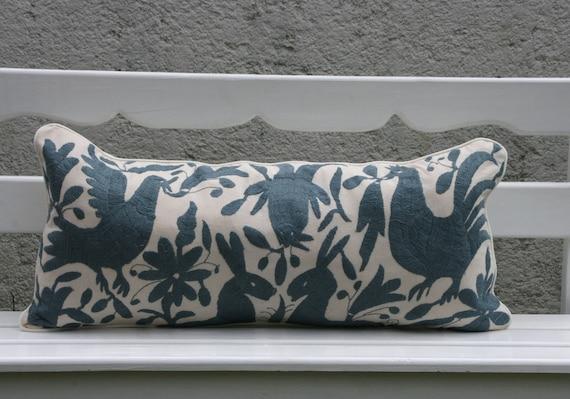 Long Grey Otomi Pillow Sham-Ready to ship