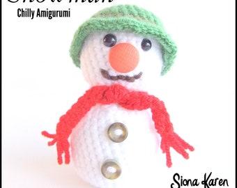 Snowman Crochet Pattern PDF