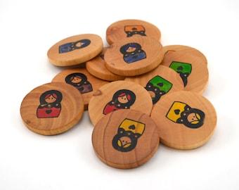 Wooden Memory Game - Nesting Dolls