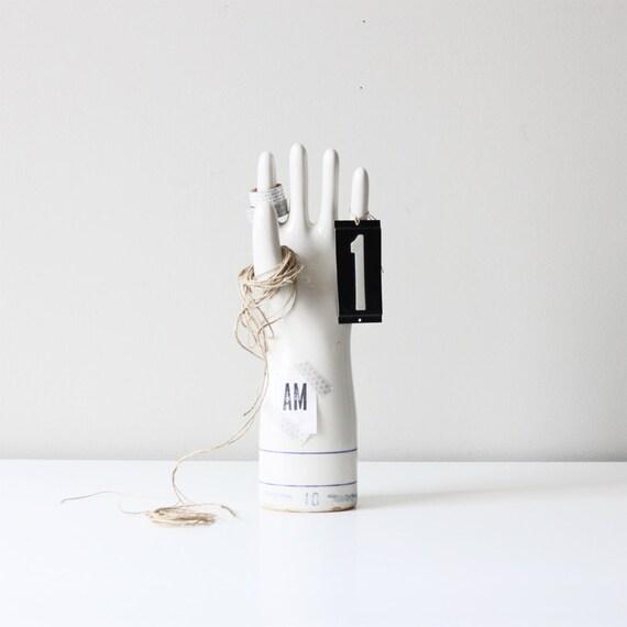 vintage porcelain glove mold / industrial decor