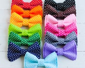 The Beau- boy's pin dot collection double stacked bow ties (adjustable strap or bow tie clip) - choose from 13 shades