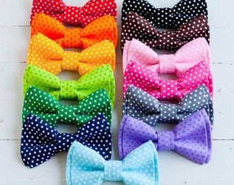 Bow Tie, Bow Ties, Boys Bow Ties, Baby Bow Ties, Bowtie, Bowties, Ring Bearer, Bow ties For Boys, Baby Gift, Ties - Pin Dot Collection