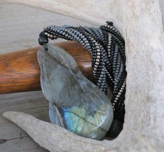 Shades of Gray Labradorite Pendant Necklace
