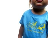 SHARE THE ROAD Toddler Organic Short Sleeve Tee (2t, 3t, 4t)
