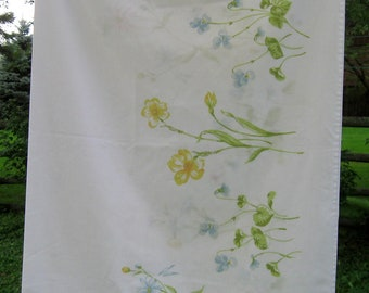 Vintage Pillowcase, Flowers, Shabby Chic, Cottage Charm French Country