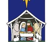 5 Nativity Christmas Cards