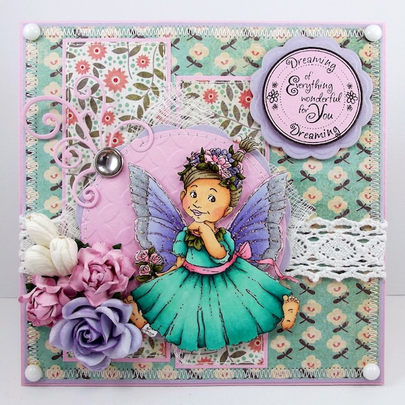 Dreaming Of Everything Wonderful For You - Handmade Card