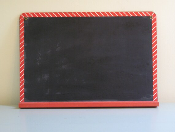vintage chalkboard red and white