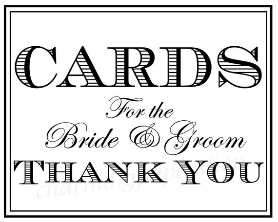 ... Thank You Signs, Wedding Cards, Wedding Card thank you sign, printable