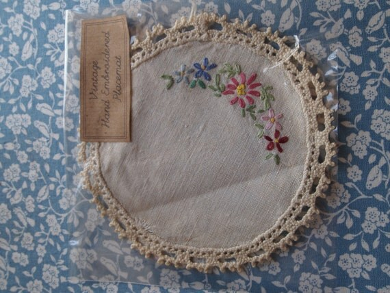 Vintage Embroidered Placemat