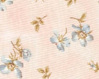 1 Yard fabric - INVENTORY SALE!!! - Maywood Fabrics - Memories Of Love - Pink With Blue Scattered Primrose -  8063M-PB - Shabby Chic