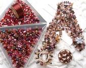 Freeform Peyote Bracelet Kit - Pinky Reds
