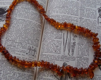 """Baltic Amber Beaded Necklace Vintage 23"""" in length"""