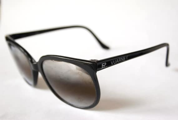 Vintage Black POUILLOUX VUARNET Sunglasses 002 Mirrored Lens