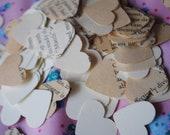 Book Paper & Ivory Confetti, wedding, Hearts....