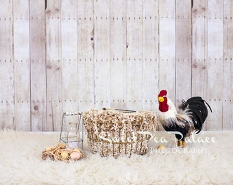Newborn Baby Photography Prop Digital Backdrop for Photographers Rooster