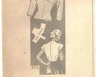 Vintage Blouse shirt top Pattern sz 14
