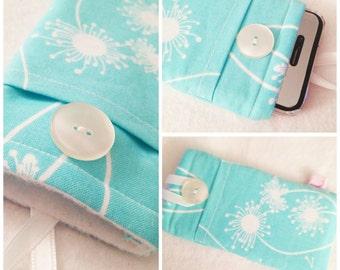 Teal Dandelion iPhone/iPod Sleeve