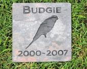 Personalized Parakeet bird Memorial Stone Grave Marker 6 x 6 Inch Memorial Stone Marker