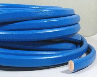 Regaliz Licorice Leather - Electric Blue - R29 - Choose Your Length