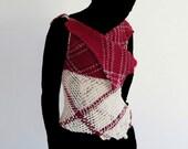Colorfull woolen sleeveless sweater