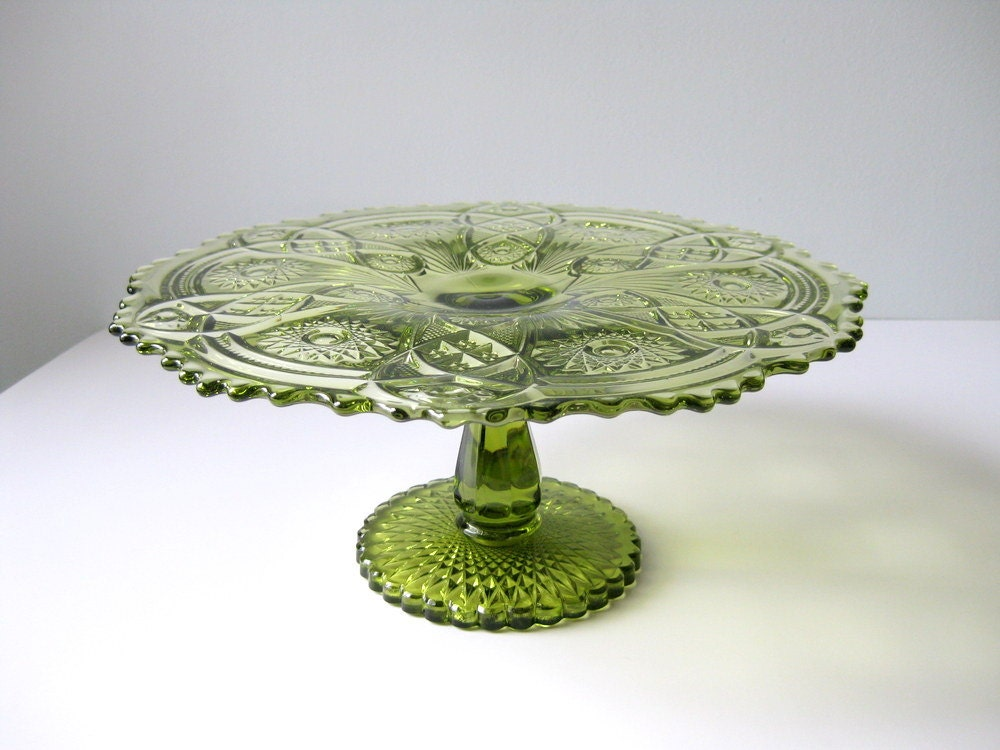 Vintage Cake Stand Imperial Glass Fashion