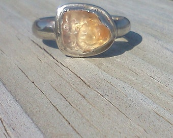Mexican Fire Opal & Silver Ring-Sunsets in July