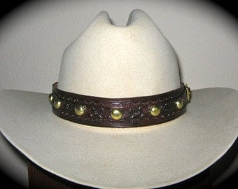 Custom Made to Oeder leather hat band - 10/12 week delivery