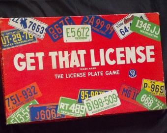 Vintage Get That License Game 1955