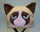 Grumpy Cat Fleece Hat