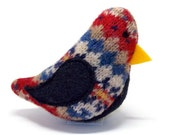 Birds of a Sweater Catnip Cat Toy - Red and Navy