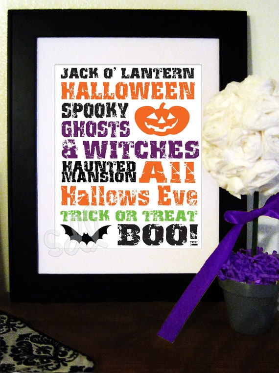 Halloween Wall Decor 8x10 PDF Print