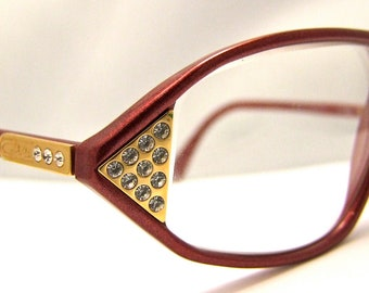 Designer Eyeglass Frames With Rhinestones : Popular items for cazal eyeglasses on Etsy