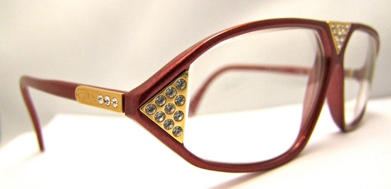 Designer Eyeglass Frames From Germany : Cazal Rhinestone Designer Eyeglasses // Vintage by ...