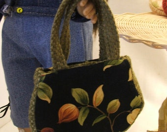 OOAK Miniature Floral Designer Purse for American Girl