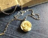 Ivory Rose Pendant