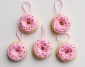 Mini Pink Donut Ornament