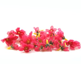 Hot Pink Bargain Delphinium Buds - 25 Count - 1 layers - Budget Silk Flowers