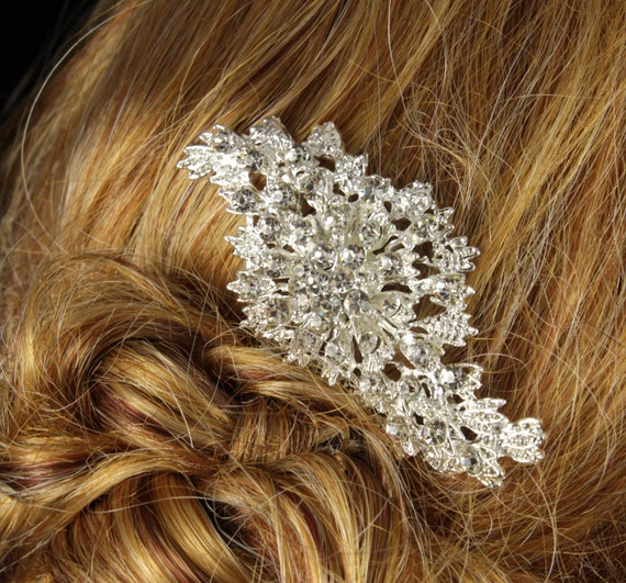 SALES - last 2- Wedding Hair Comb, Bridal Accessories, White, Rhinestones, Crystal, Swarovski, Czech crystal, Head Piece - Style 8