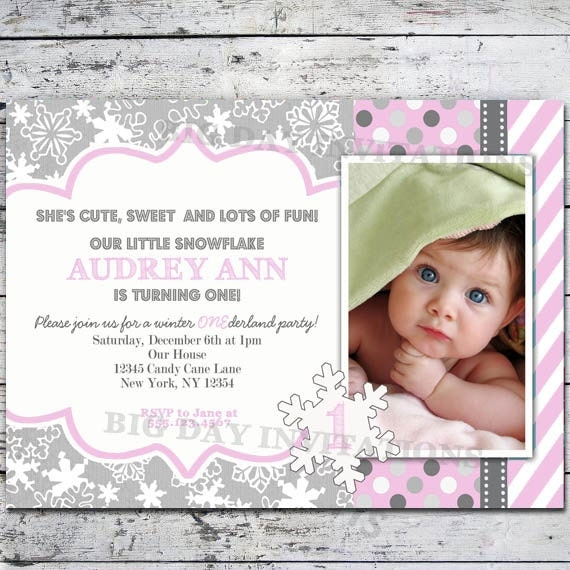 winter onederland invitation winter wonderland invitation by, Birthday invitations