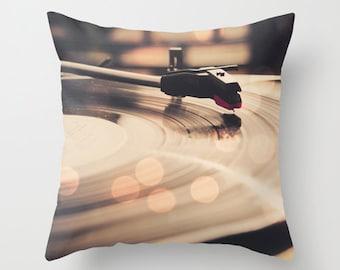 Record player  decorative throw pillows music pillow, bokeh pillow, home decor home forniture