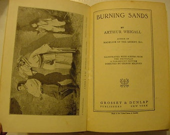 1921 Burning Sands Arthur Weigall Photoplay Book Silent Film Movie Milton Sills Louise Dresser