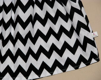BUY 2 Get1 FREE - Mod Black and White Chevron Skirt- Baby Toddler Girls - Black White Zig Zag - Great for All Year